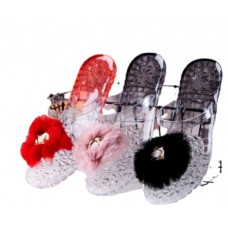 Transparent fruit jelly slippers
